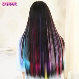 假发女彩色假发片渐变色接发片一片式发片挑染接发无痕