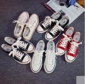 送运费险帆布情侣鞋学生布鞋低帮浅口平底鞋