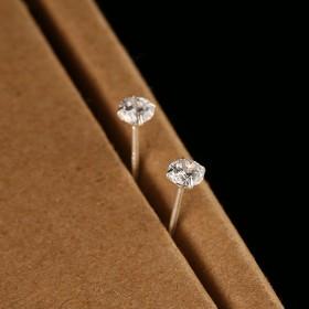 2.5mm超小锆石 s925纯银耳钉