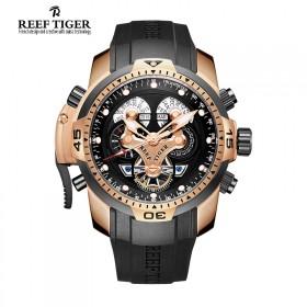 瑞士品牌瑞夫泰格男表机械表大表盘个性创意潮流男表