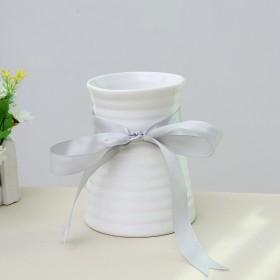 花瓶白色陶瓷现代简约日式创意客厅摆件
