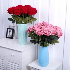 高档绒布玫瑰10支装