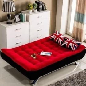 布艺双人1.2米可拆洗折叠懒人客厅多功能沙发床