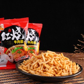 红烧牛肉面 500g膨化食品干吃虾条休闲零食