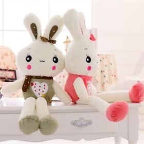 一对装兔子毛线玩具公仔布娃娃流氓兔送儿童生日礼物