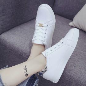 百搭系带学生板鞋透气休闲运动鞋平底女单鞋