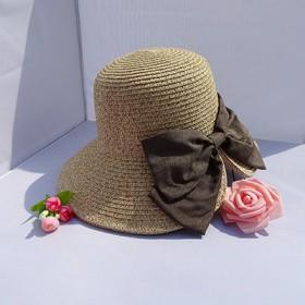 遮阳帽女夏季太阳帽出游可折叠韩版时尚编织沙滩帽