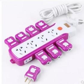 大功率接线板插座带电源开关家用插线板多孔拖线板