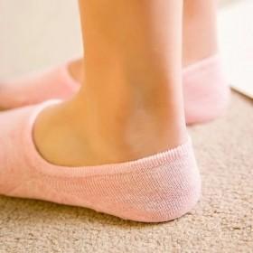 5双装夏季女士隐形船袜女袜子全棉硅胶防滑