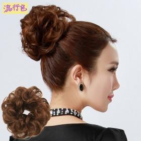 假发女士韩版时尚假发圈假头花发包丸子头发圈花苞头