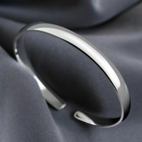 银手镯S925银满天星推拉韩版 女款纯银镯子