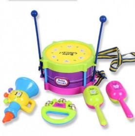 乐器组合5件套宝宝手拍鼓套欢乐婴儿童拍拍鼓早教玩具
