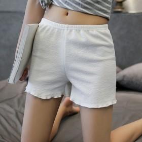 夏季薄女士荷叶边安全裤防走光打底裤高腰宽松保险裤大