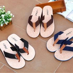 青花款男士人字拖鞋夏季凉拖夹脚防滑平跟舒适凉鞋沙滩