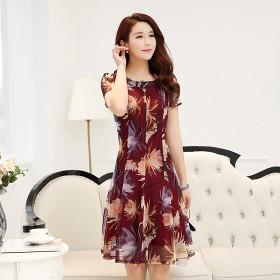 2017夏季华哥弟情正品牌女装显瘦大码桑蚕丝连衣裙