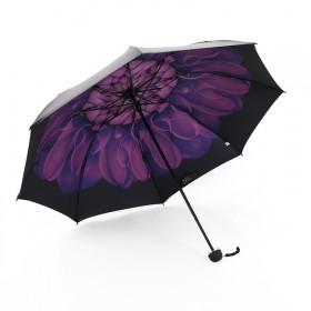 黑胶雨伞折叠礼品广告黑胶小黑伞防晒遮阳晴雨伞