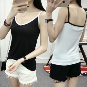 夏季新品女装吊带韩版修身纯棉打底显瘦细吊带小背心