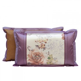 夏季专用冰丝枕套 夏天凉席枕头套一对装两只