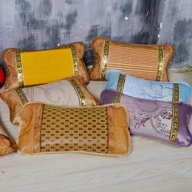 夏季冰丝凉席藤枕头 儿童茶叶枕 学生单人枕头含枕芯