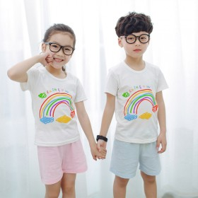 男女童T恤 中大儿童纯棉宝宝短袖套装1套