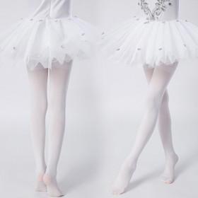 天鹅绒女童加档打底裤新款糖果色连脚袜儿童春夏白色
