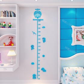儿童身高贴3d立体墙贴宝宝测量标尺幼儿园壁纸画背景