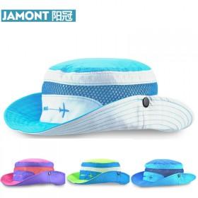 夏季遮阳帽盆帽 卷边宝宝新款夏款渔夫帽儿童防晒网帽