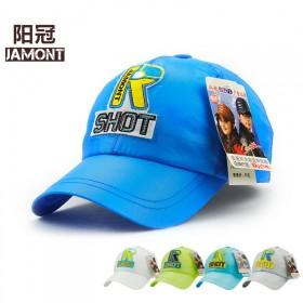韩版户外速干新款2017中童帽子夏天防晒帽儿童棉质
