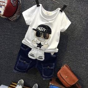 童装男童短袖套装夏2-3岁小孩衣服1儿童5宝宝夏装
