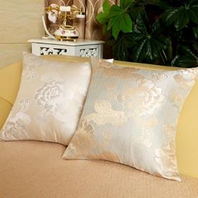 欧式奢华抱枕 金色花朵高精密提花图案客厅沙发靠枕