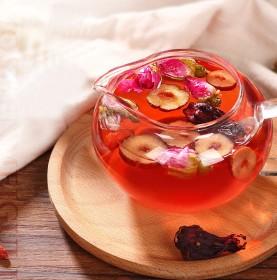 洛神玫瑰花茶补气血干红枣玫瑰茄养生无硫花果茶组合天