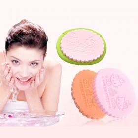 5片湿用卡通KT珍珠细腻洗脸扑海绵洁面扑