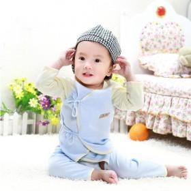 婴儿衣服纯棉内衣0到6个月薄款睡衣新生儿和尚服