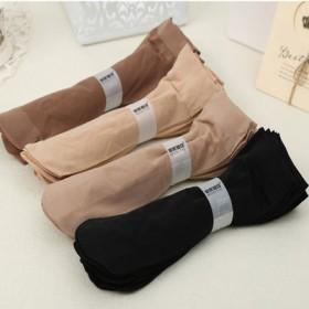 20双春夏包芯丝天鹅绒短丝袜女士黑色肉色袜子防勾丝