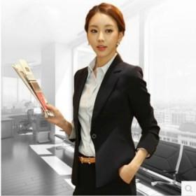 职业女装气质小西装短款2017春短外套修身黑西服