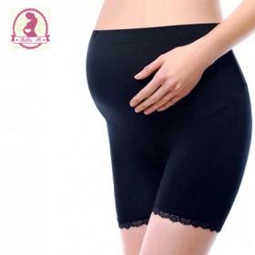 孕妇安全裤高腰全托腹夏季百搭防走光蕾丝平角裤保险裤