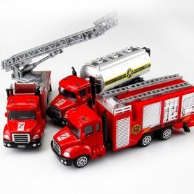 儿童玩具跑车小汽车仿真玩具车工程车警车合金车模型