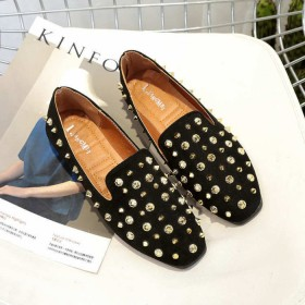 女鞋平底鞋欧美大牌柳丁鞋