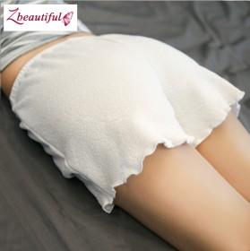 安全裤防走光女夏 丝薄学生宽松短款外穿白色打底透气