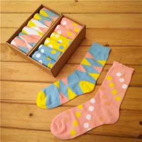 【包邮】礼盒6双装纯棉中长筒女袜袜子韩版日系