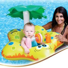 游泳圈 婴儿游泳圈 儿童腋下圈儿童加厚游泳浮圈座骑