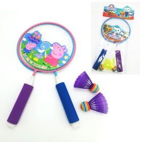 【佩佩猪 海底小纵队】儿童羽毛球拍套装
