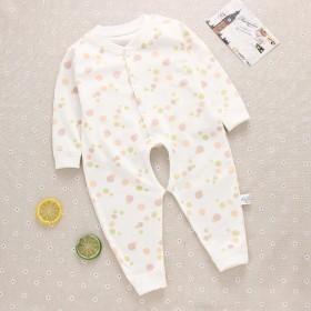 新生婴幼儿连体衣长袖哈衣春秋款宝宝爬爬服睡衣纯棉开