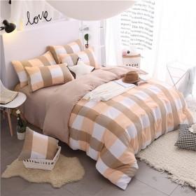 裸睡水洗棉四件套床上用品学生儿童三件套床笠