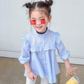 女童衬衣儿童衬衫韩版花边领衬衫女童衬衫儿童夏装