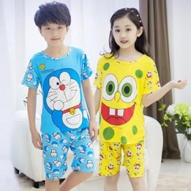 【包邮】儿童纯棉夏季短袖套装睡衣套装