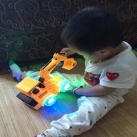 儿童挖机 模拟动作 高级挖机工程车玩具儿童玩具