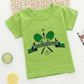 儿童短袖T恤夏季纯棉吸汗宝宝外出1-4岁卡通印花彩