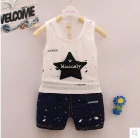 婴儿背心套装两件套纯棉夏装