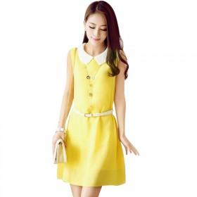 2017夏季时尚韩版雪纺连衣裙